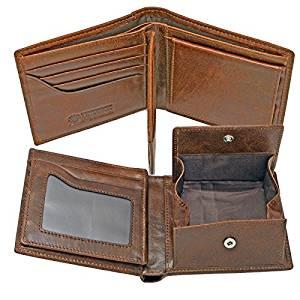 【2個セット】【大感謝価格】JWT-017DBR J.HARRISON ジョンハリソン 牛革 ビンテージ風 二つ折り財布 濃茶