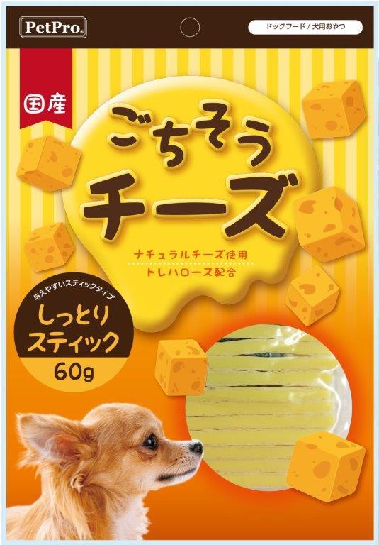 【25個セット】【基本メーカー直送品】【大感謝価格】ペットプロ ごちそうチーズ しっとりスティック 60g×25個セット