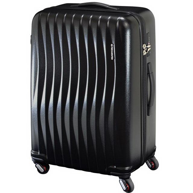 【大感謝価格 】FREQUENTER WAVE フリクエンター ウェーブ スーツケース ファスナータイプ 68cm マット加工 1-624 マットブラック