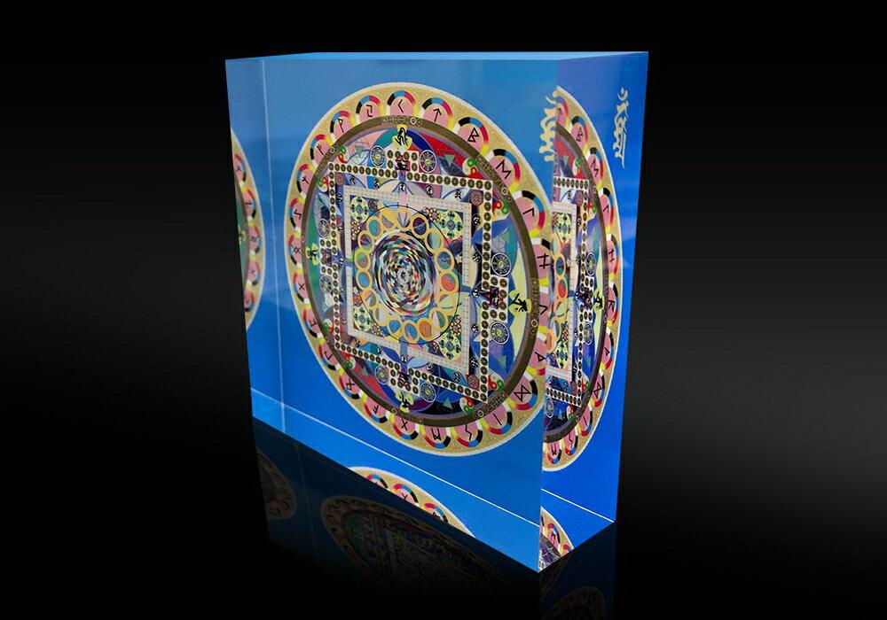 【大感謝価格 】クリスタルクスリエ 曼陀羅ボルテックス 中サイズ 75×75×20mm