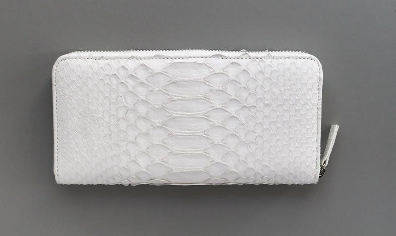 【大感謝価格 】白い蛇皮 ロングウォレット K12475