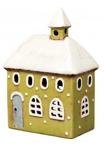 インテリア 小物 置物 オブジェ 陶器製 可愛い House 29213 ヘルシ価格 Candle 交換無料 東洋石創 キャンドルハウス 爆安