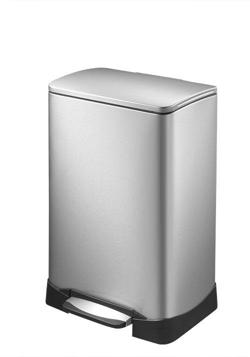 送料無料 インテリア 小物 置物 ダストボックス ごみ箱 ゴミ箱 角型 蓋付き ステンレス製 【メーカー直送・大感謝価格】EKO ネオキューブ ステップビン 40L EK9298-40L 同梱不可