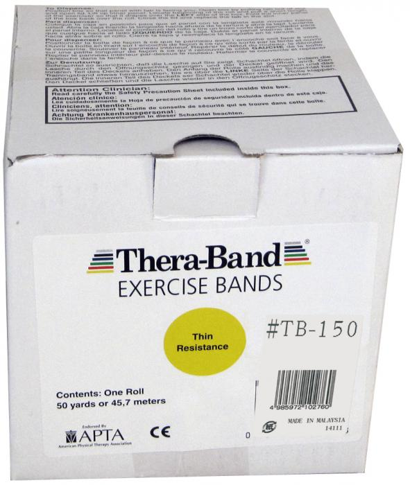 大感謝価格『セラバンド 50ヤード #TB-150 イエロー』健康 ダイエット エクササイズ用品 スポーツ器具 トレーニング フィットネス 伸縮自在 ラバーチューブ『セラバンド 50ヤード #TB-150 イエロー』