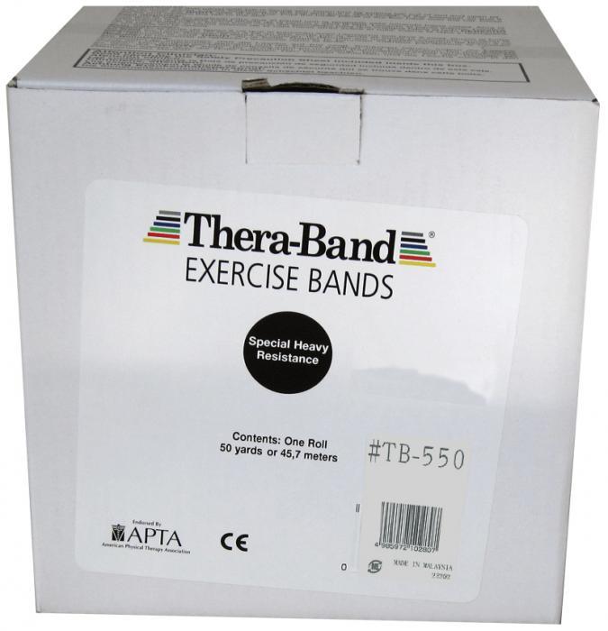 大感謝価格『セラバンド 50ヤード #TB-550 ブラック』健康 ダイエット エクササイズ用品 スポーツ器具 トレーニング フィットネス 伸縮自在 ラバーチューブ『セラバンド 50ヤード #TB-550 ブラック』