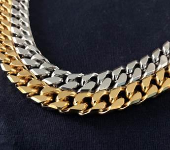 【大感謝価格 】ペレバレンチノ 超極太タイプ喜平磁気ネックレス