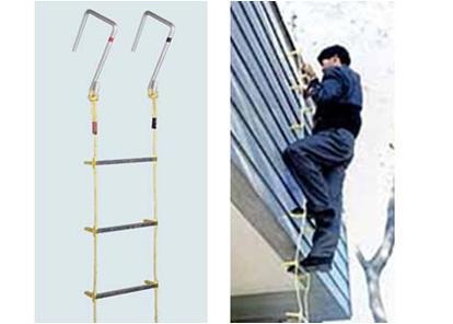 【大感謝価格 】避難用 アルミ縄はしご 5m MLカギ付