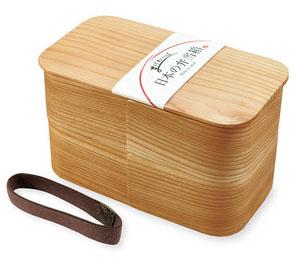 【大感謝価格】日本の弁当箱 長角 二段 89715