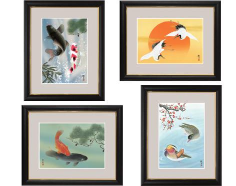 【大感謝価格】和の雅び 伝統の趣 額絵 シリーズ5 縁起画 中