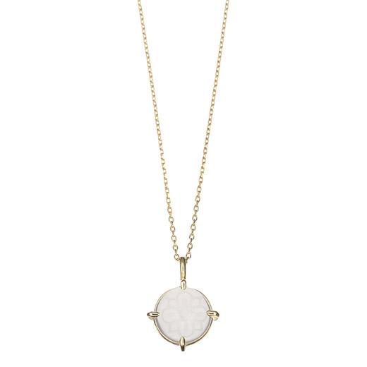 【大感謝価格】マレア リッチ Marea rich 17KJ-04 K10×ストーン シーグラス ネックレス ペンダント Natural Seaglass Necklace