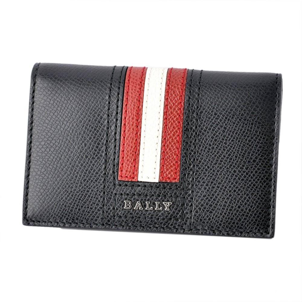 【大感謝価格】バリー BALLY TYKE.LT 10 6218025 バリーストライプ パスケース付 カードケース 名刺入れ