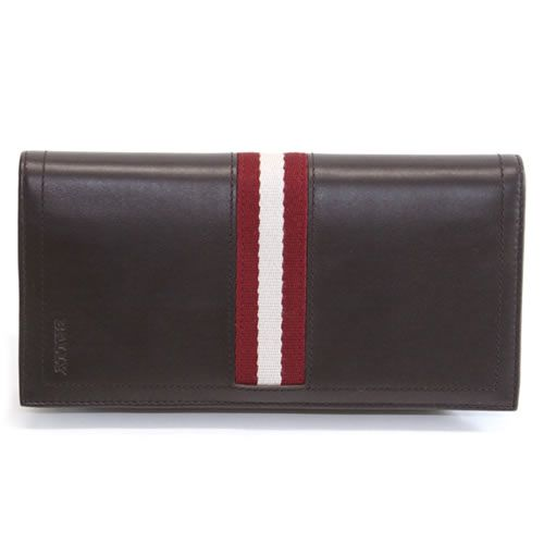 【大感謝価格】バリー TALIRO 271 CHOCOLATE ファスナー小銭入れ付 二つ折り長財布 カーフ