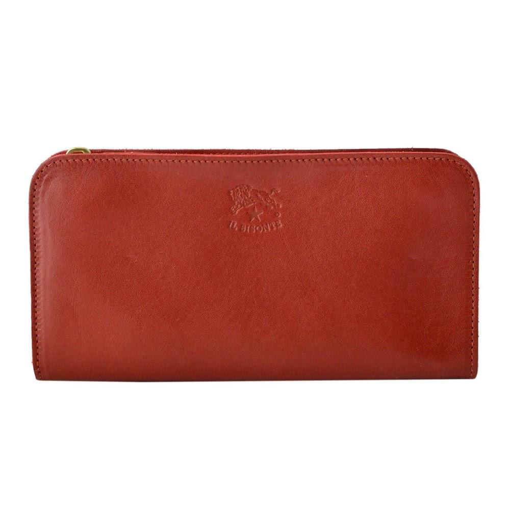 【大感謝価格】イルビゾンテ IL BISONTE C0909 P 245 Ruby Red ラウンドファスナー 長財布 ロングウォレット
