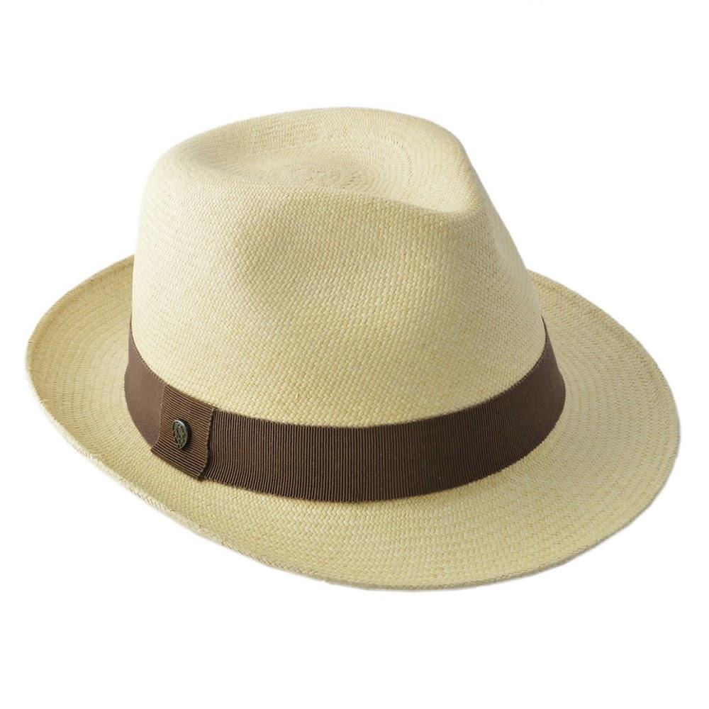 【大感謝価格】ヘレンカミンスキー カミンスキーXY HELEN KAMINSKI Emosi Oyster/Walnut 2018SS エモシ UPF50+ クラシック フェドーラハット パナマハット メンズ中折れ帽子 Mサイズ