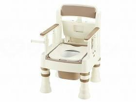 【メーカー直送】リッチェルポータブルトイレきらくMS型(標準便座)アイボリー-45601【別途送料発生は連絡します、割引キャンセル返品不可】