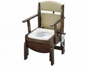 きらくコンパクト-暖房便座18530【別途送料発生は連絡します、割引キャンセル返品不可】 【物流倉庫出荷品】リッチェル木製トイレ