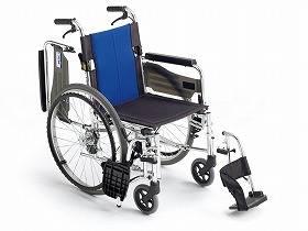 【メーカー直送】ミキBAL-3 多機能型 自走型車いすブルー40BAL-3【別途送料発生は連絡します、割引キャンセル返品不可】