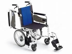 【メーカー直送】ミキBAL-4 多機能型 介助型車いすブルー40BAL-4【別途送料発生は連絡します、割引キャンセル返品不可】