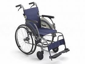 【メーカー直送】ミキカルティマ 自走型車いす CRT-5A-16紺40CRT-5【別途送料発生は連絡します、割引キャンセル返品不可】