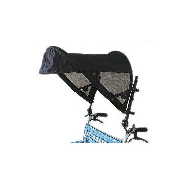 【メーカー直送】片山車椅子T-シェード黒-AKT-0300【別途送料発生は連絡します、割引キャンセル返品不可】