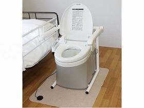 【メーカー直送】アム水洗式ポータブルトイレ 流せるポータくん3号-洗浄便座SPF15-3-SB【別途送料発生は連絡します、割引キャンセル返品不可】