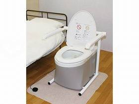 【メーカー直送】アム水洗式ポータブルトイレ 流せるポータくん3号-標準便座SPF15-3【別途送料発生は連絡します、割引キャンセル返品不可】
