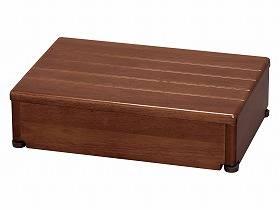 【メーカー直送】アロン化成木製玄関台 45W-30-1段ブラウン-535544【別途送料発生は連絡します、割引キャンセル返品不可】