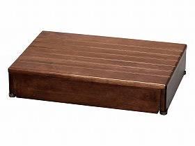 【メーカー直送】アロン化成木製玄関台 60W-40-1段ブラウン-535580【別途送料発生は連絡します、割引キャンセル返品不可】, フクロイシ:8bd94d06 --- sunward.msk.ru