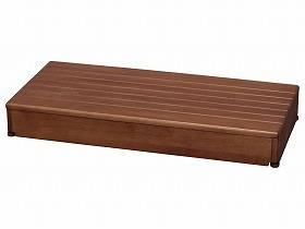 【メーカー直送】アロン化成木製玄関台 90W-40-1段ブラウン-535590【別途送料発生は連絡します、割引キャンセル返品不可】
