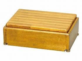 【メーカー直送】アロン化成木製玄関台 S45W-30-1段ライトブラウン-535572【別途送料発生は連絡します、割引キャンセル返品不可】