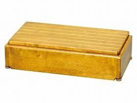 【メーカー直送】アロン化成木製玄関台 S60W-30-1段ライトブラウン-535576【別途送料発生は連絡します、割引キャンセル返品不可】