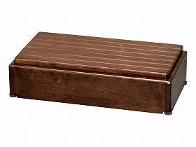 【メーカー直送】アロン化成木製玄関台 S60W-30-1段ブラウン-535574【別途送料発生は連絡します、割引キャンセル返品不可】