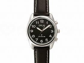 【メーカー直送】インテックボイス電波腕時計ブラック×ブラック-GRS003-03【別途送料発生は連絡します、割引キャンセル返品不可】