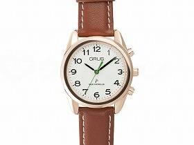 【メーカー直送】インテックボイス電波腕時計ホワイト×ブラウン-GRS003-04【別途送料発生は連絡します、割引キャンセル返品不可】
