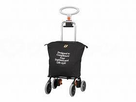 【メーカー直送】ユーバ産業4輪タイプ・ショッピングカート アップラインブラック-UL-0218【別途送料発生は連絡します、割引キャンセル返品不可】