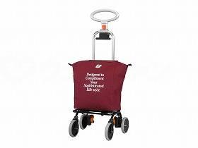【メーカー直送】ユーバ産業4輪タイプ・ショッピングカート アップラインワインレッド-UL-0218【別途送料発生は連絡します、割引キャンセル返品不可】