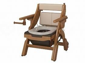 【メーカー直送】アロン化成折りたたみ家具調トイレ キャスター付き-ソフト533833【別途送料発生は連絡します、割引キャンセル返品不可】