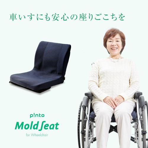 【送料無料】p!nto MoldSeat 車イス用モールドシート(pinto MOLD SEAT)【車椅子 骨盤 姿勢 猫背 椅子 シートクッション】