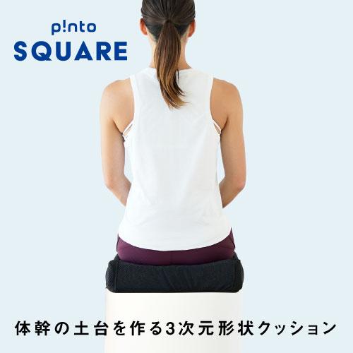 【送料無料】p!nto SQUARE 体幹の土台を作る3次元形状クッション ピントスクエア 正しい姿勢習慣(pinto square)【疲労 骨盤 姿勢 猫背 椅子 イス チェア デスクワーク 腰 肩 座布団】