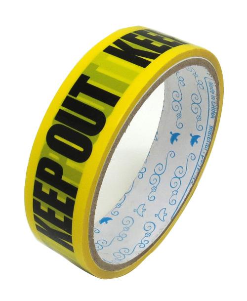 OPP 小包み 梱包 パッキングテープ セロハンテープ デコレーション ラッピング d-tape ミニパッキングテープ 粘着テープ ハロウィン KEEPOUT デザイン 格安店 引っ越し テープ 丈夫 パッキング 人気の製品
