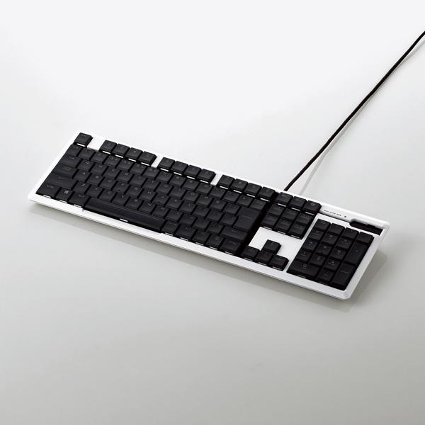 エレコム ゲーミングキーボード/ARMA/薄型メカニカル/5000万回耐久スイッチ/日本語配列/フルキー/有線/ホワイト TK-ARMA50WH