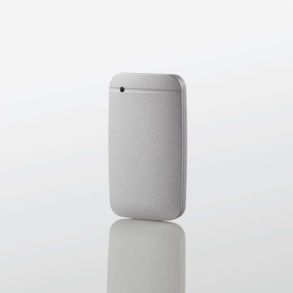 【即納】外付けSSD/ポータブル/USB3.2(Gen1)対応/TLC搭載/Type-C&Type-Aケーブル付属/500GB/シルバー/データ復旧サービスLite付