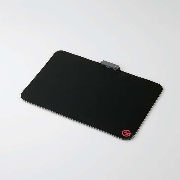 パソコン・周辺機器 PCアクセサリー マウスパッド 【あす楽】エレコム 光るマウスパッド/振り向きサイズ/ブラック