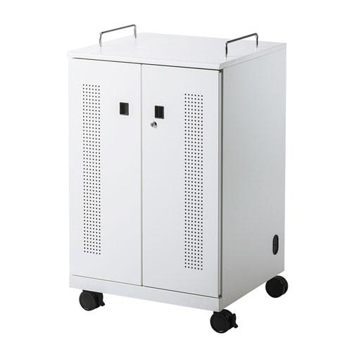 【即納】サンワサプライ ノートパソコン収納キャビネット(12台収納) [CAI-CAB104W]