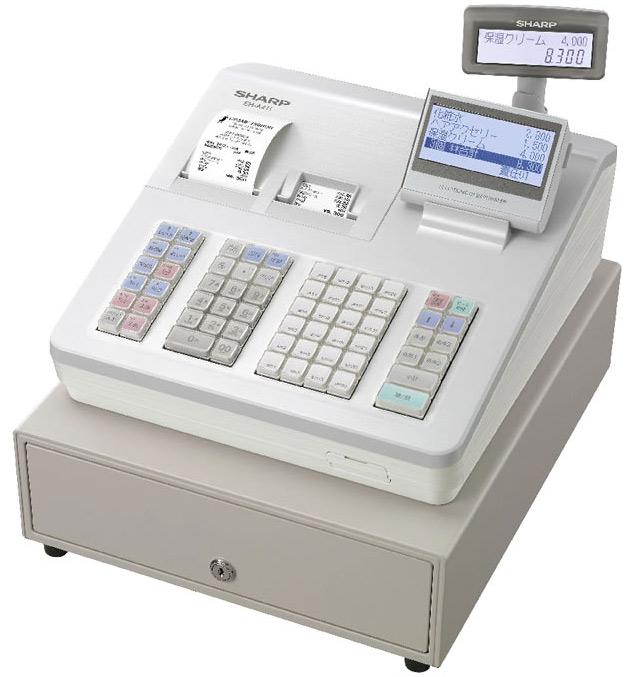 シャープ【軽減税率対策補助金対象】電子レジスタ ホワイト ER-A411-W 最大99部門 漢字対応 ブロック (ERA411W)
