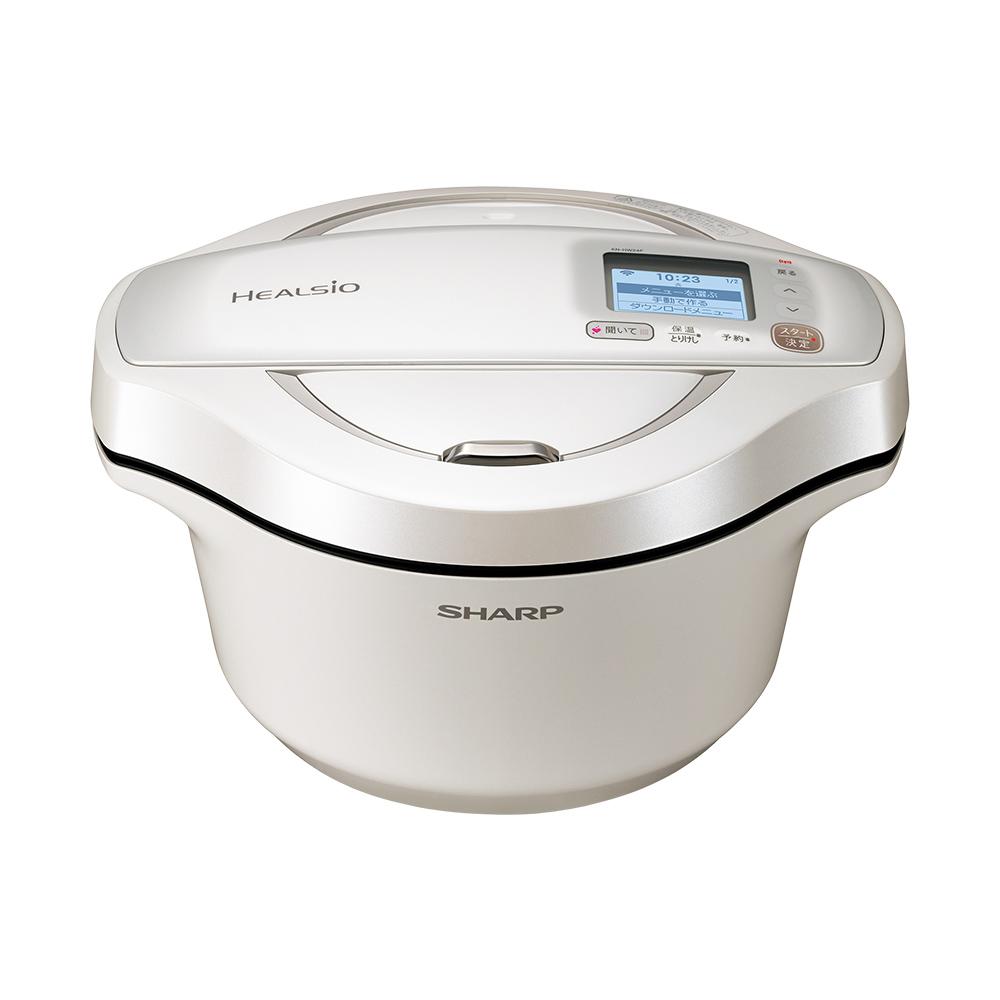 上質 SHARP HEALSIO 水なし自動調理鍋 シャープ ヘルシオ ホットクック 毎日がバーゲンセール KNHW24FW たっぷり作れる2~6人用 KN-HW24F-W ホワイト系 2.4L