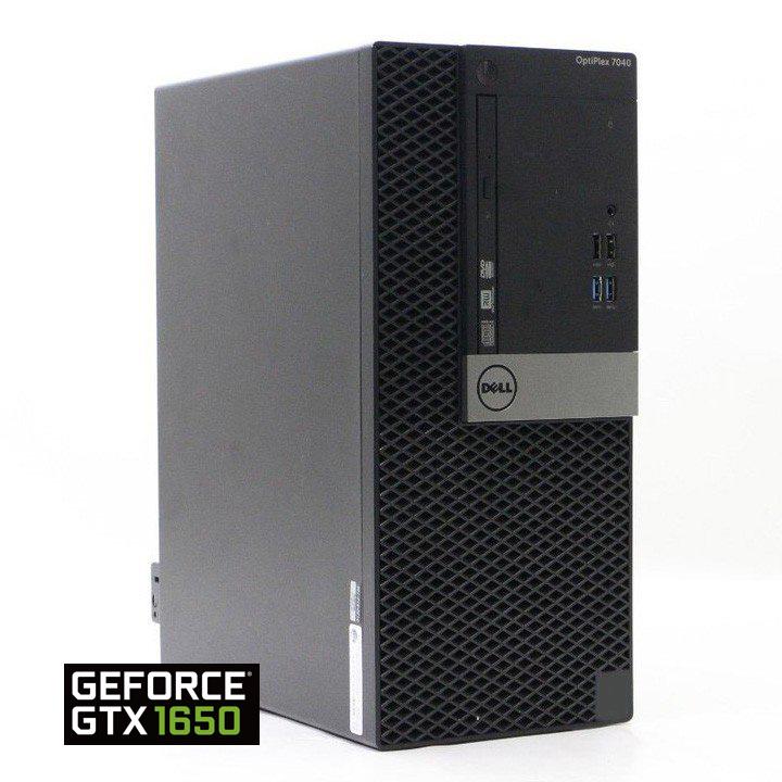 【超高速 core i7 搭載】快適 ゲーミングPC ■ DELL optiplex 7040 MT ■ 高性能グラボ nVidia GeForce GTX 1650 搭載 ■ Wi-Fi (無線LAN) 付き ■ 大容量 16GB メモリ ■ 高速新品 SSD 480GB モデル ■ オフィス付 Windows10 Pro【中古】