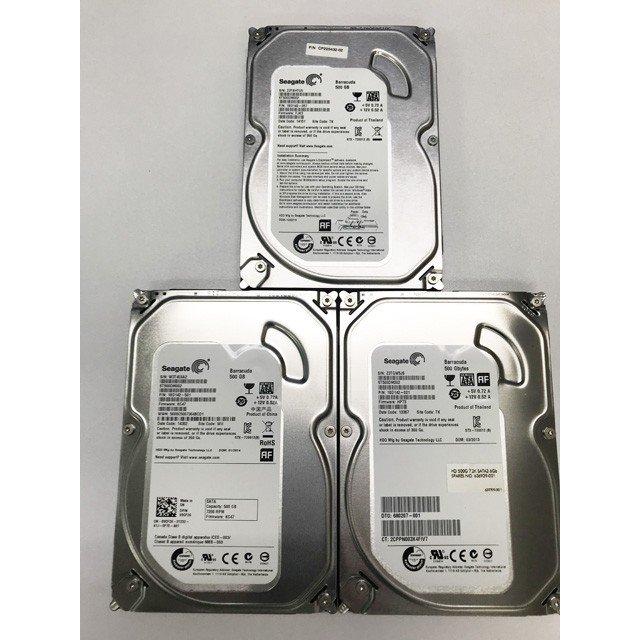\\ 検査済み エラーなしです 中古 PCパーツ 内蔵ハードディスク 3台セット WD SATA 2020秋冬新作 500GB Digital HDD 出荷 Western 3.5インチ