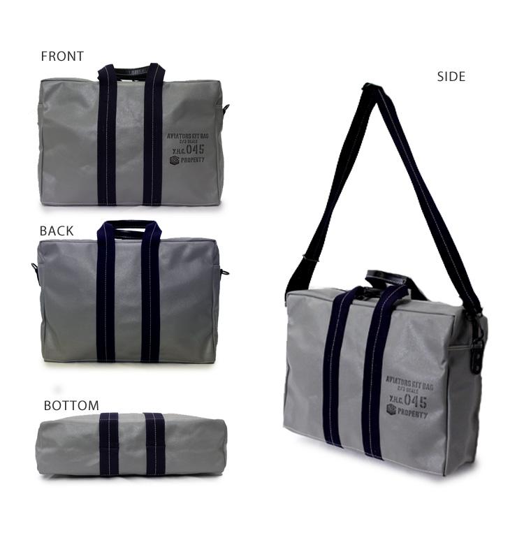 045 Yokohama canvas bag Yokohama Canvas Bag M18A12 Aviators Kit Bag 2/3  Slim (men Marine Self Defense Force light salt flame processing M14A12  having