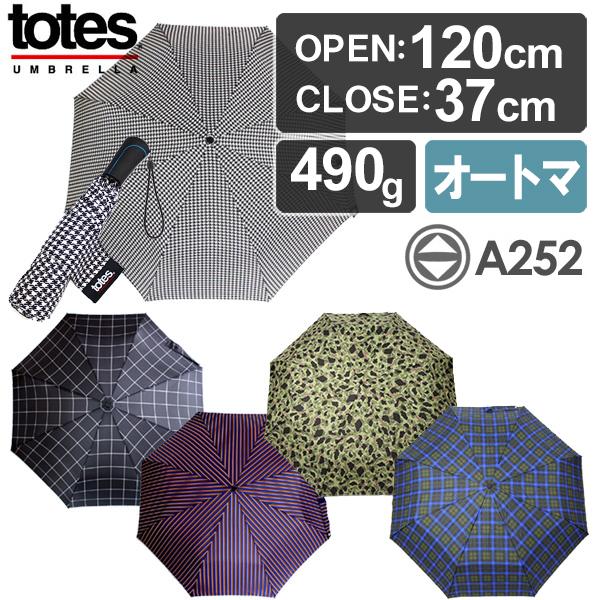 折叠式的totes A252 Automatic Open&Close Golf Size Umbrella自动开闭/UV cut伞(模式/トーツ//高尔夫球伞/晴雨自动开放关闭兼用)fs3gm